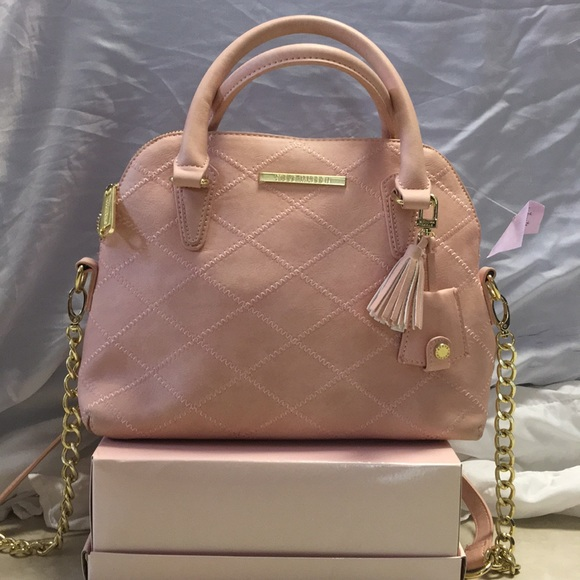Steve Madden Handbags - Steve Madden pink and gold purse